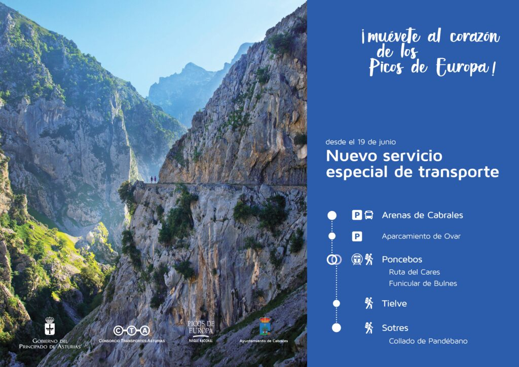Ruta del Cares transporte público